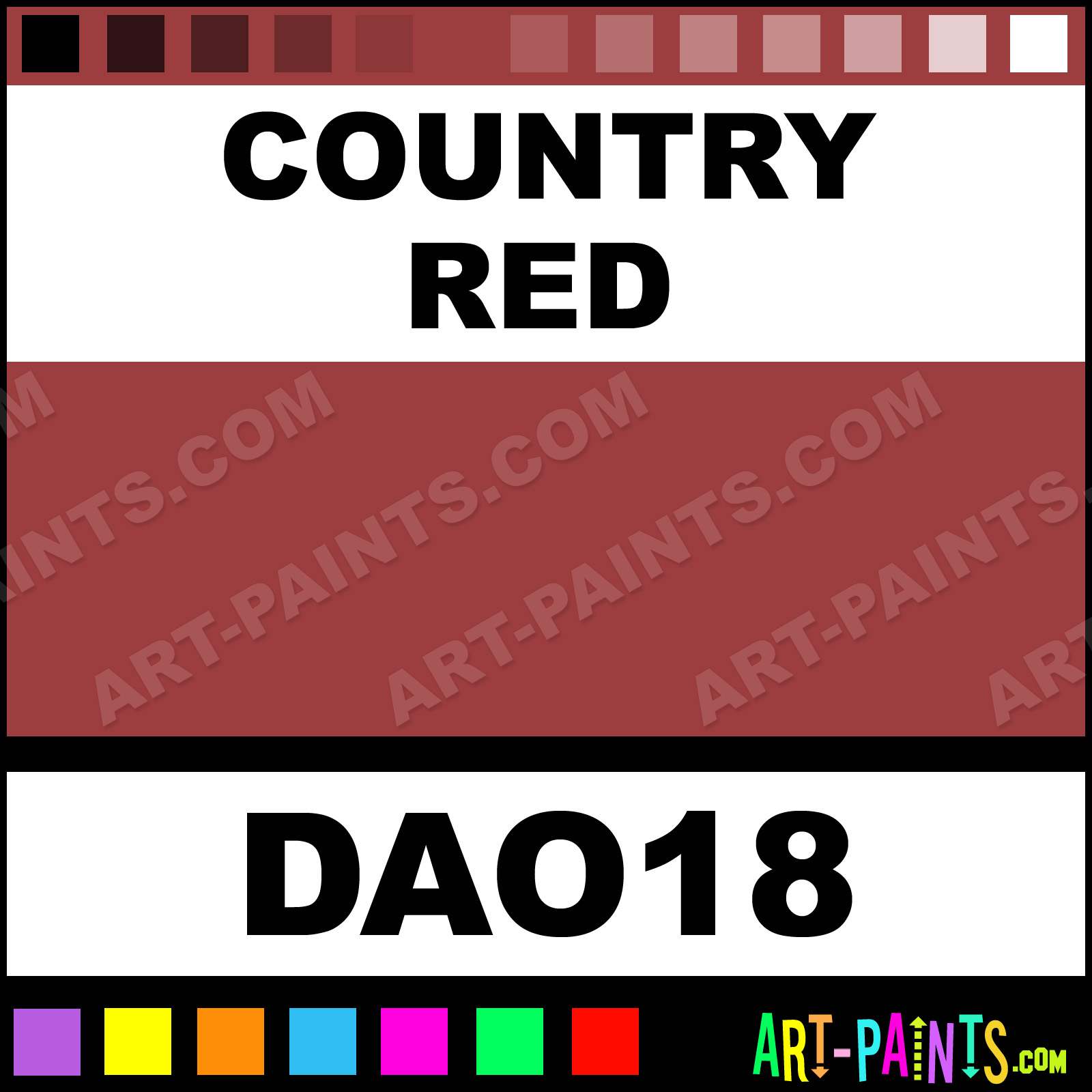 Country Red Paint