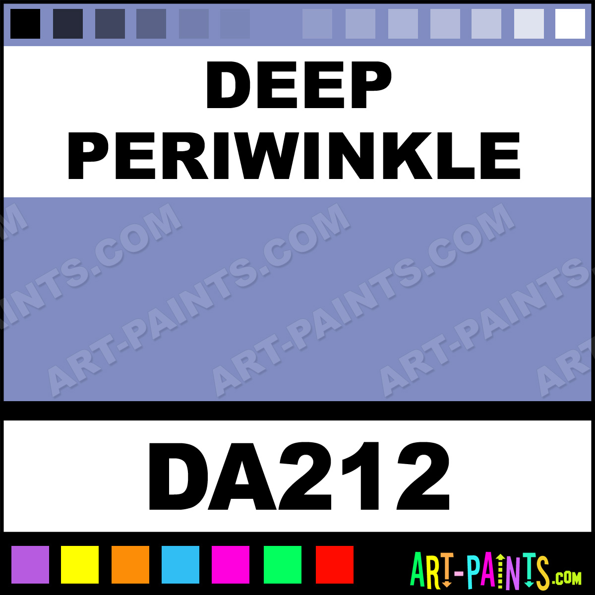 Deep Periwinkle Americana Acrylic Paints Da212 Deep