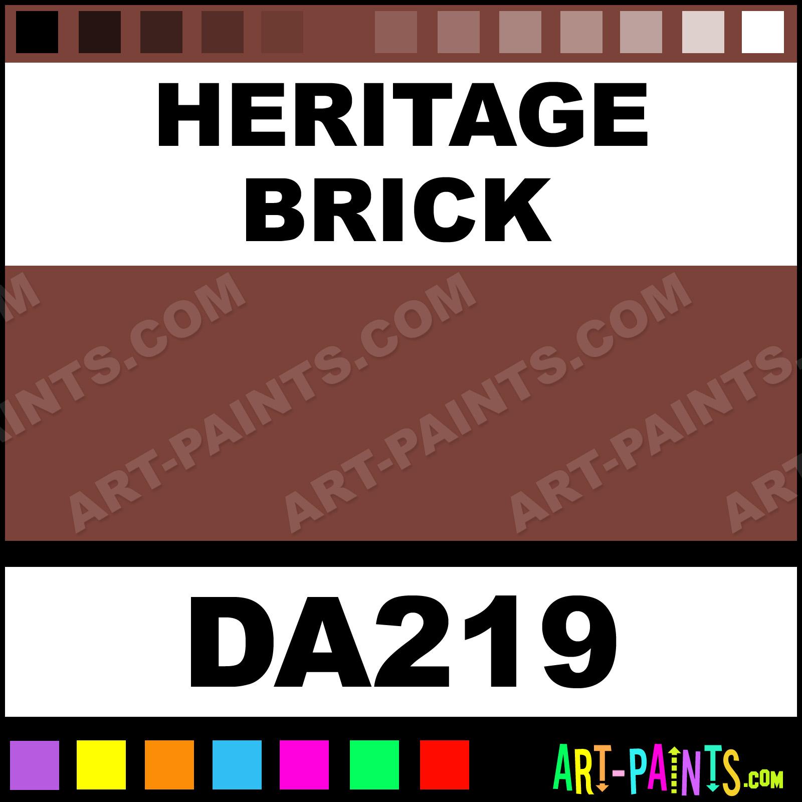 Heritage Brick Americana Acrylic Paints