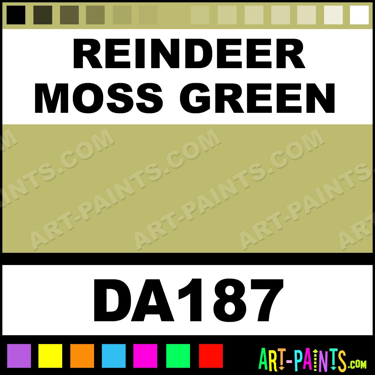 Moss Green Paint Colors: Reindeer Moss Green Americana Acrylic Paints