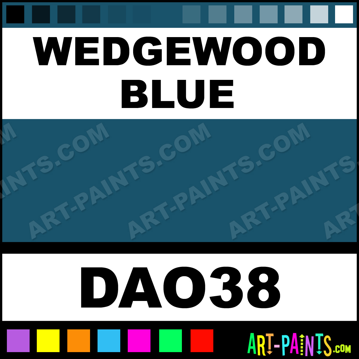 Wedgewood Blue Paint Brush
