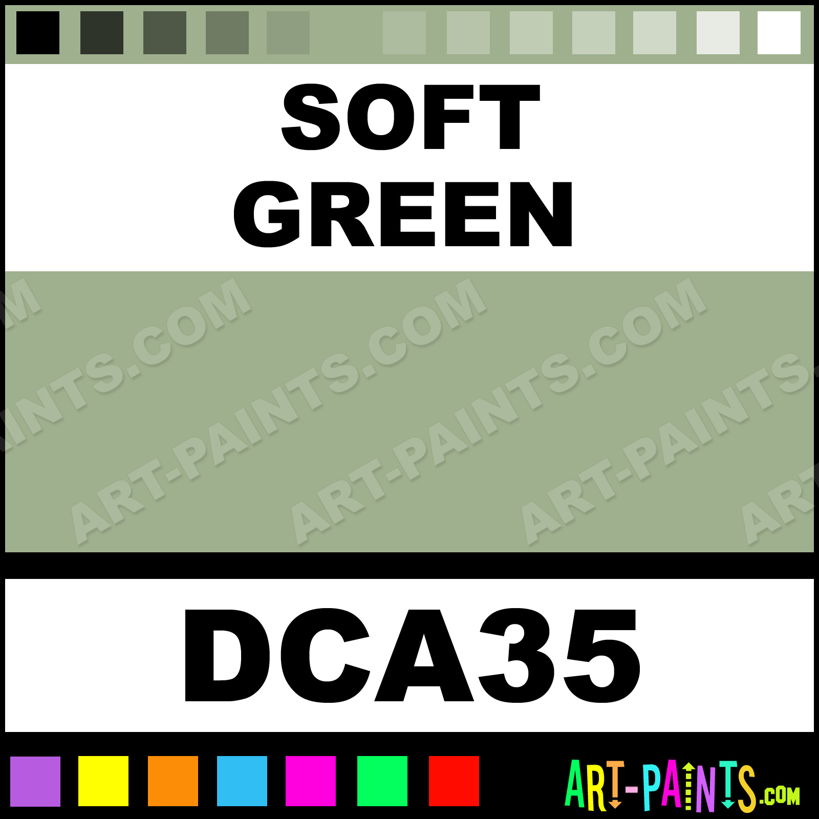 soft green crafters acrylic paints - dca35 - soft green paint