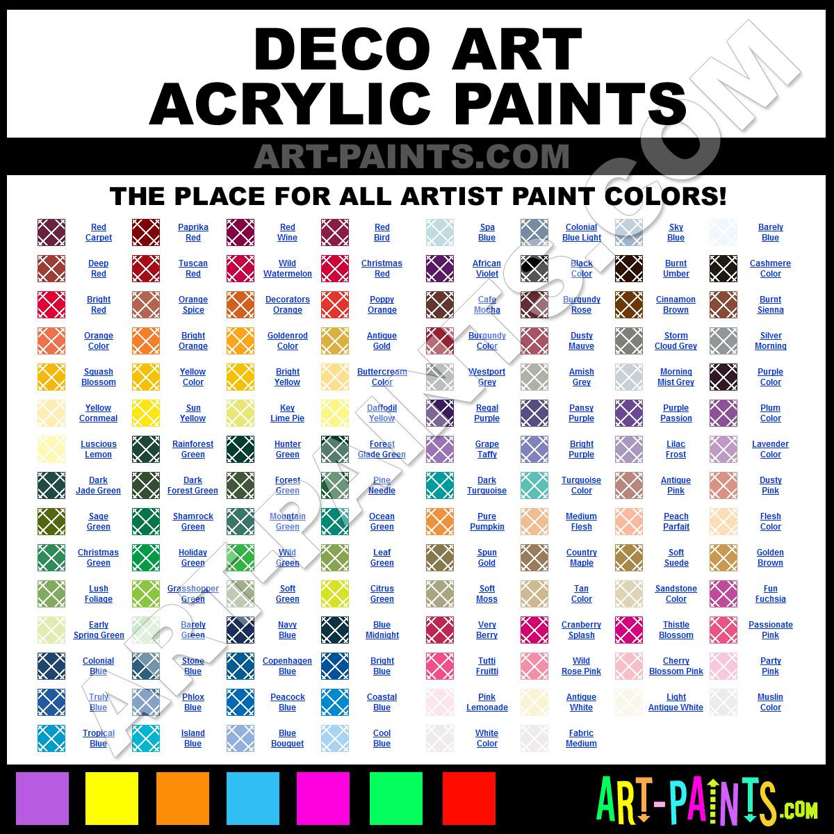 Craft Smart To Deco Art Paint Conversion