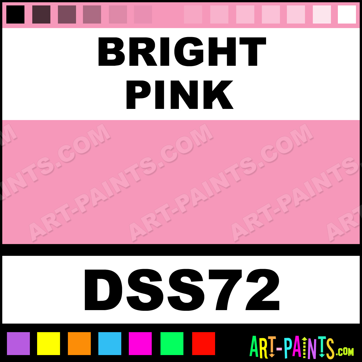 Bright Pink Paint Samples Kitchen Towels: Bright Pink SoSoft Fabric Acrylic Paints