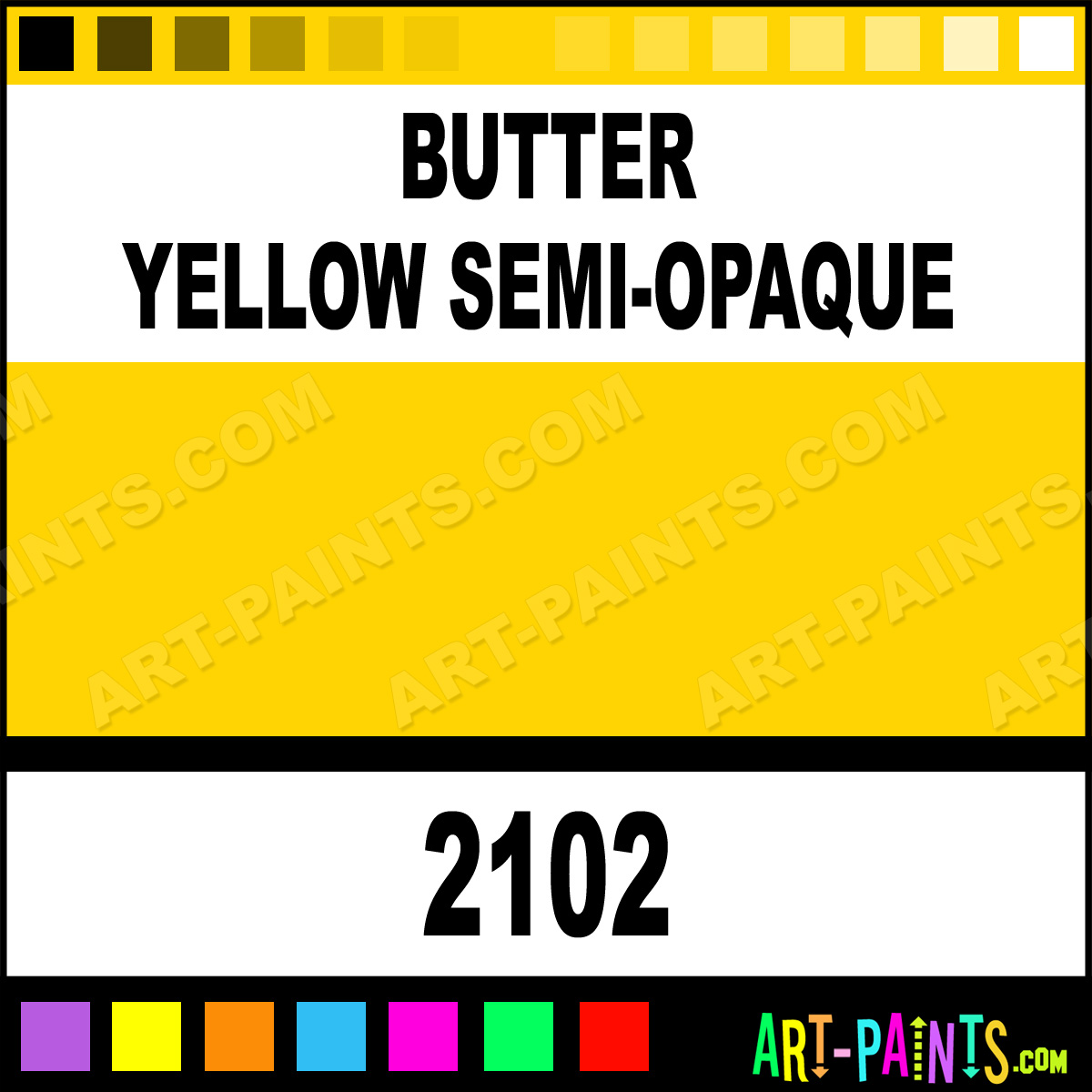 Butter Yellow Semi Opaque Ceramcoat Acrylic Paints 2102