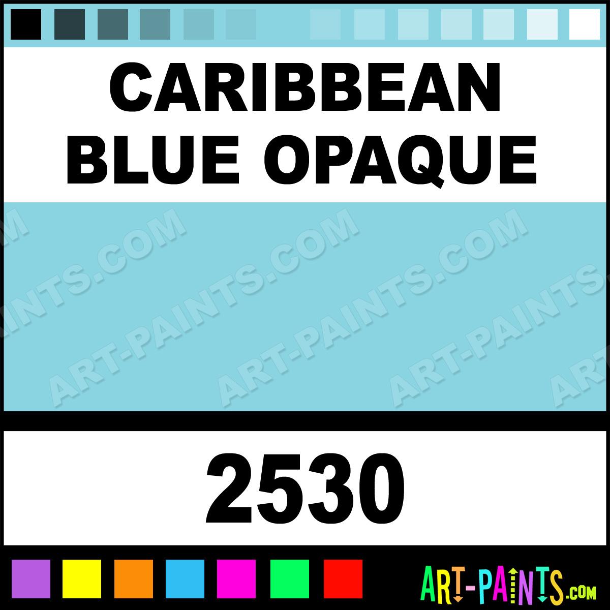 Caribbean Blue Opaque Ceramcoat Acrylic Paints 2530