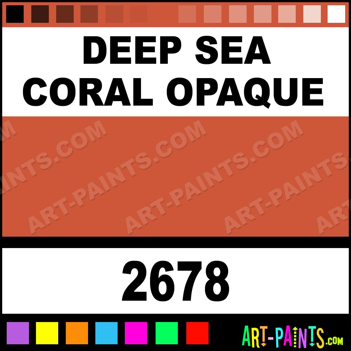 Deep sea coral opaque ceramcoat acrylic paints 2678 deep sea deep sea coral nvjuhfo Choice Image