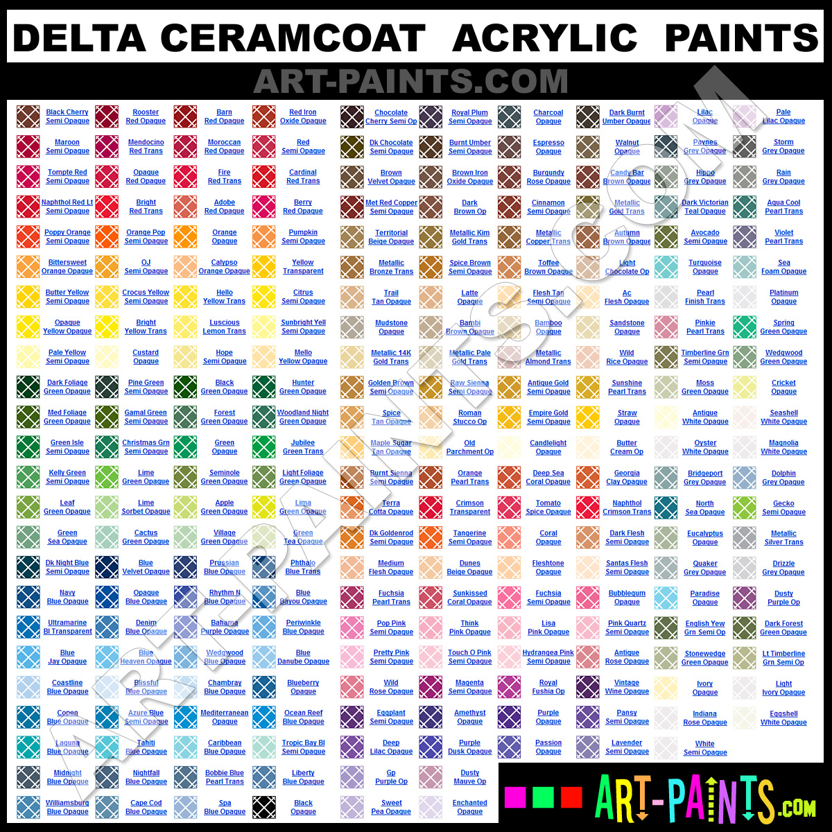 Ceramcoat Delta Acrylic Paint Colors Ceramcoat Delta Paint Colors
