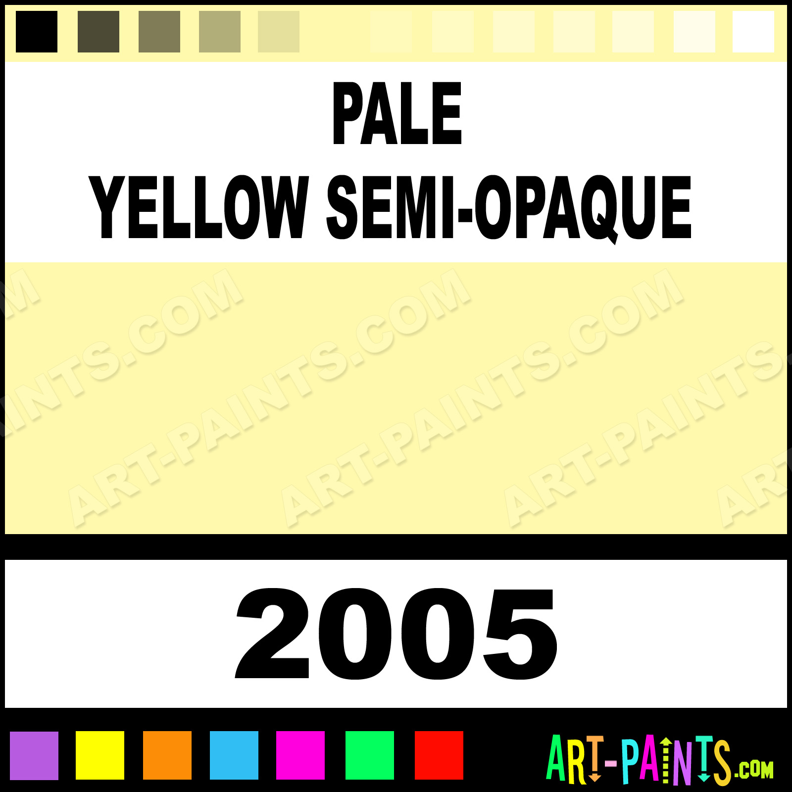 Pale Yellow Semi Opaque Xlg