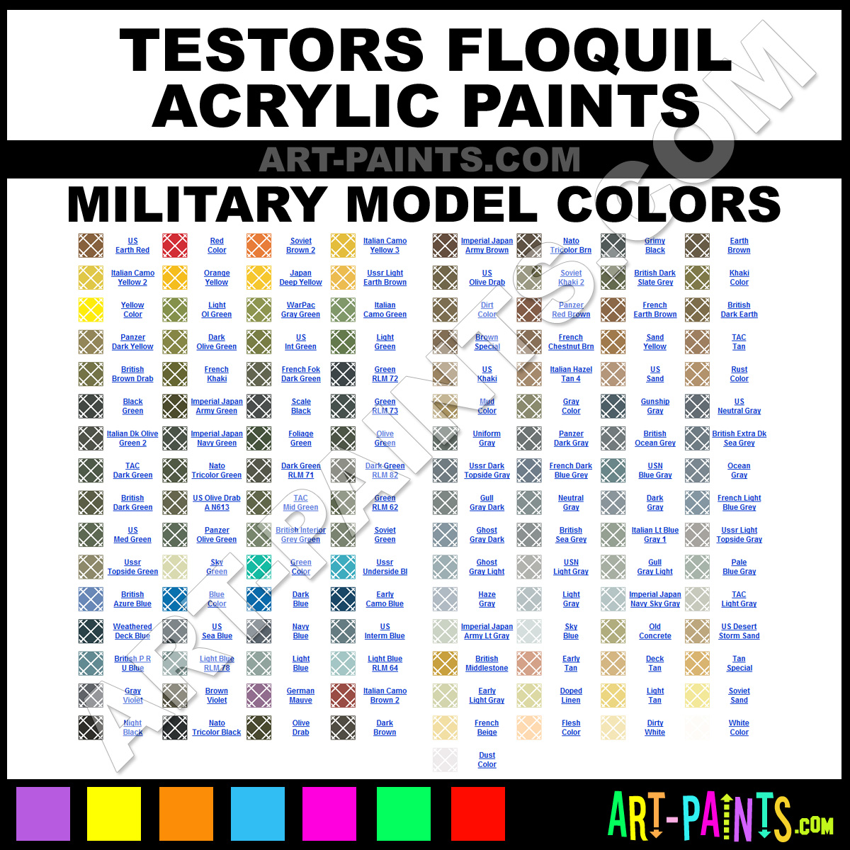 Floquil Military Model Acrylics - Floquil Military Model Paints