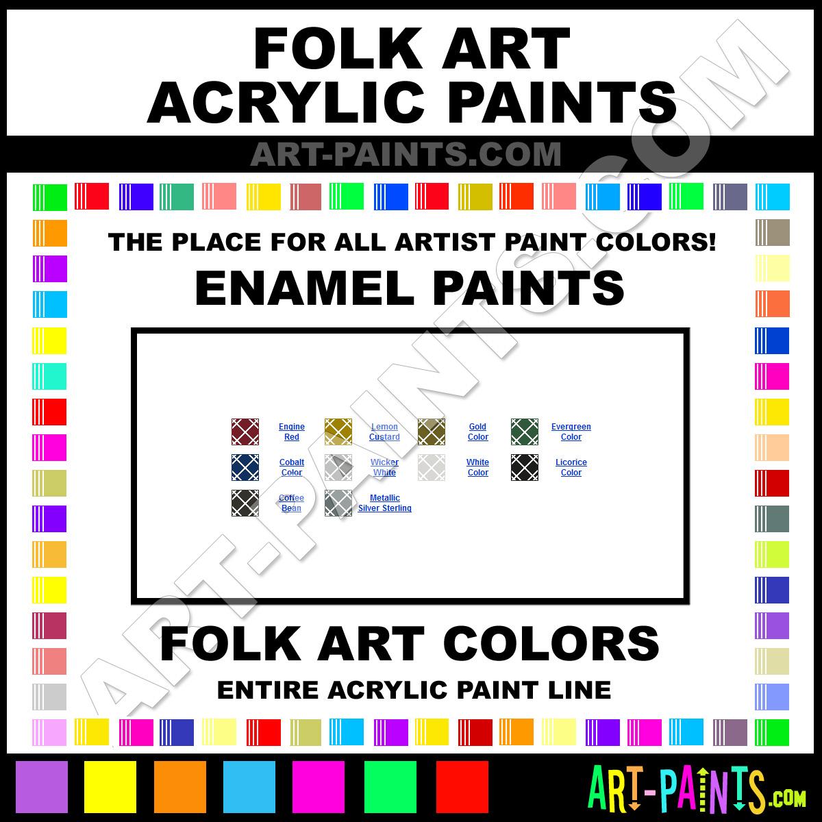 Folk art acrylic paint color chart - Licorice Paint 4032 By Folk Art Enamels Paints