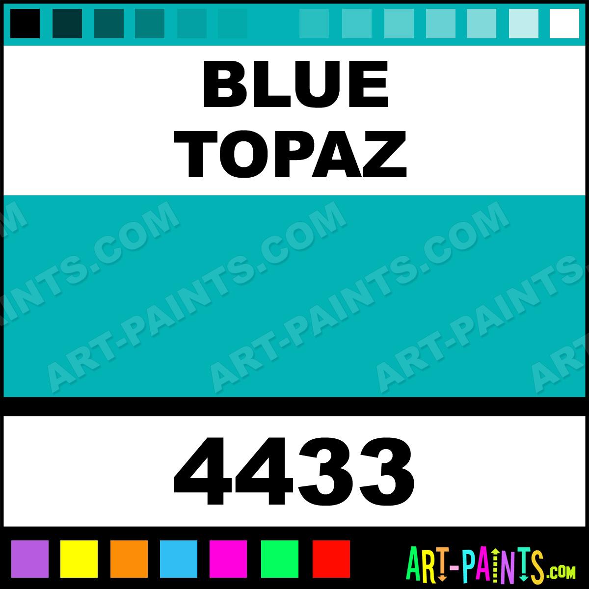 Folk art color chart acrylic paint - Blue Topaz Paint 4433 By Folk Art