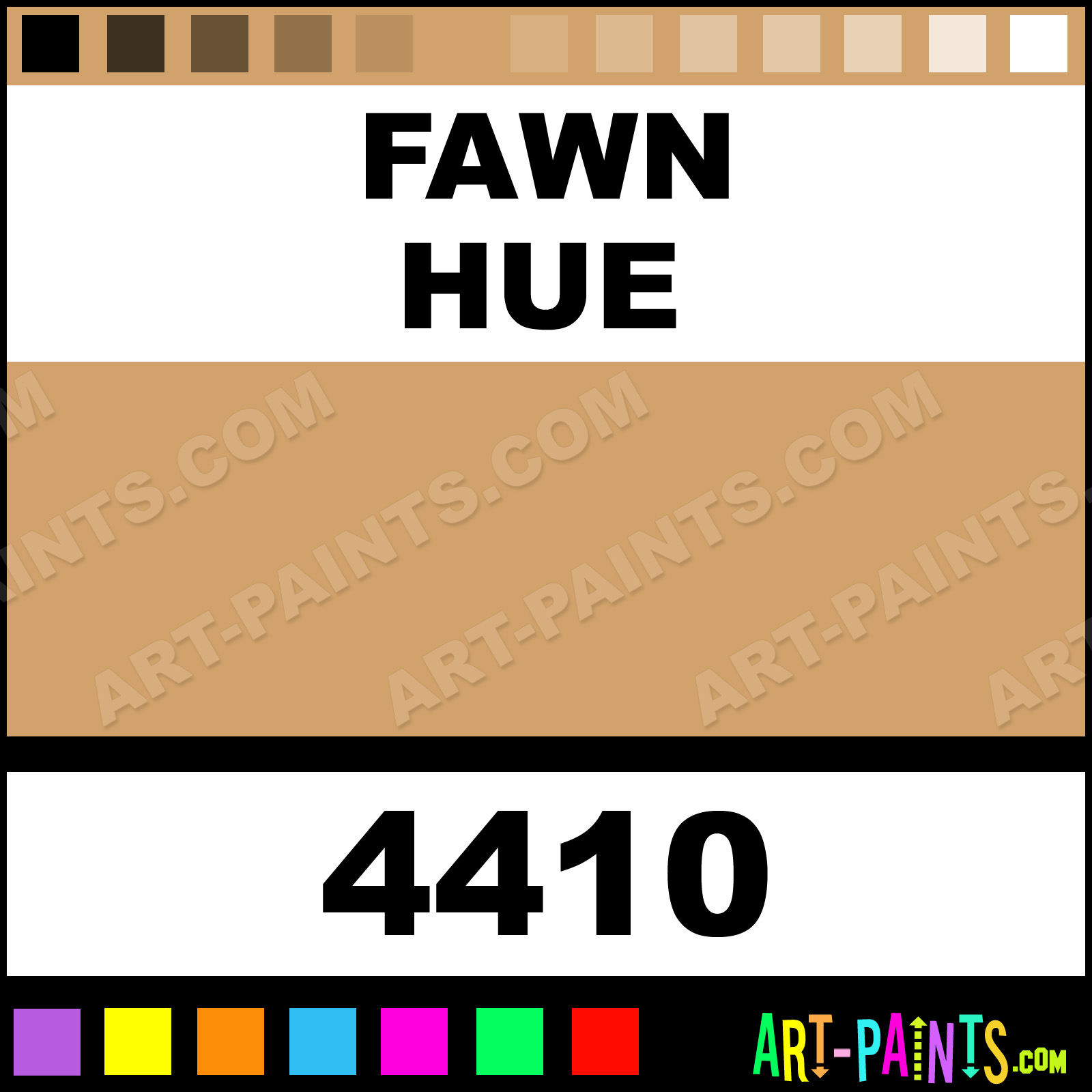 Folk art acrylic paint color chart - Fawn Fawn Paint