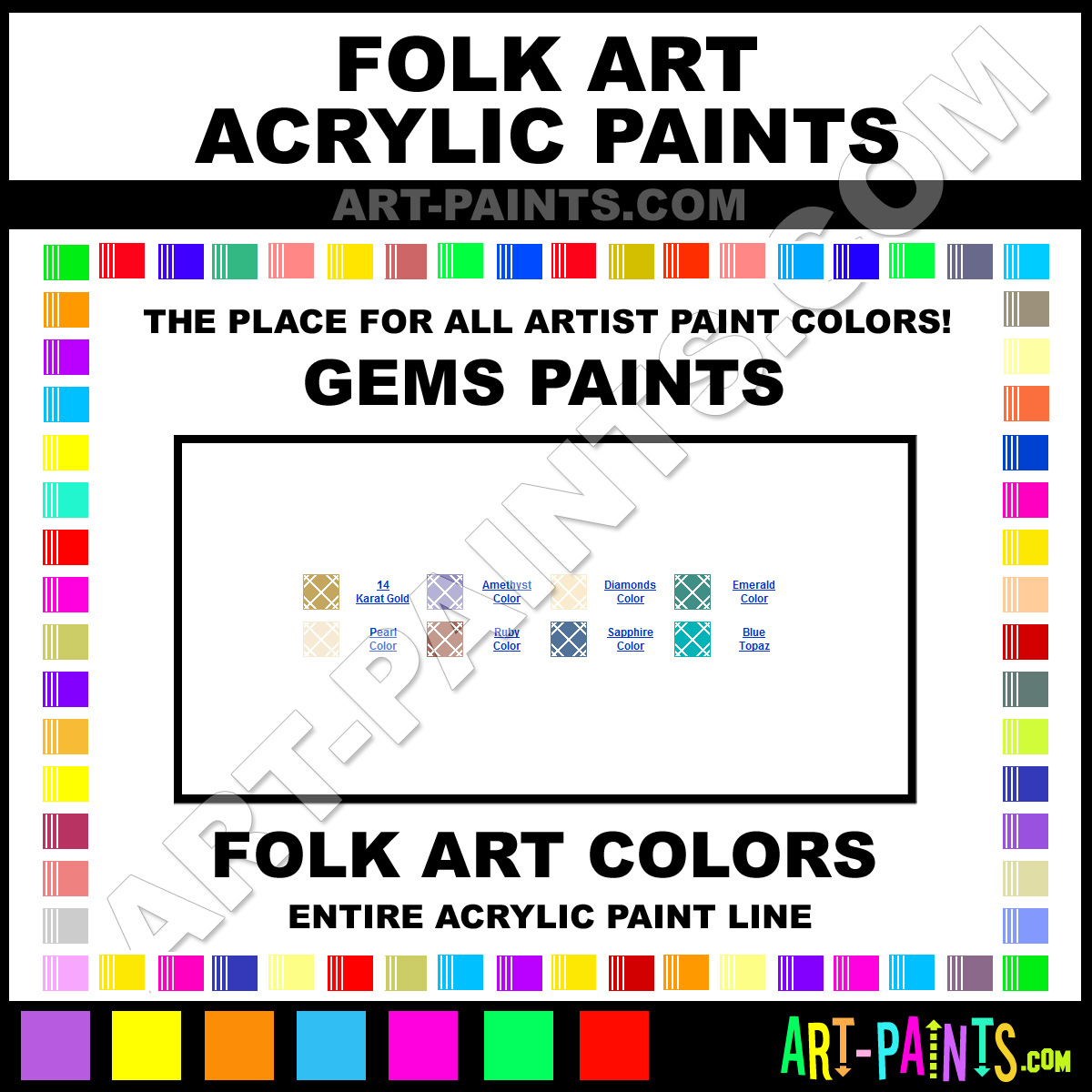 Folk art acrylic paint color chart - Amethyst Paint 654 By Folk Art