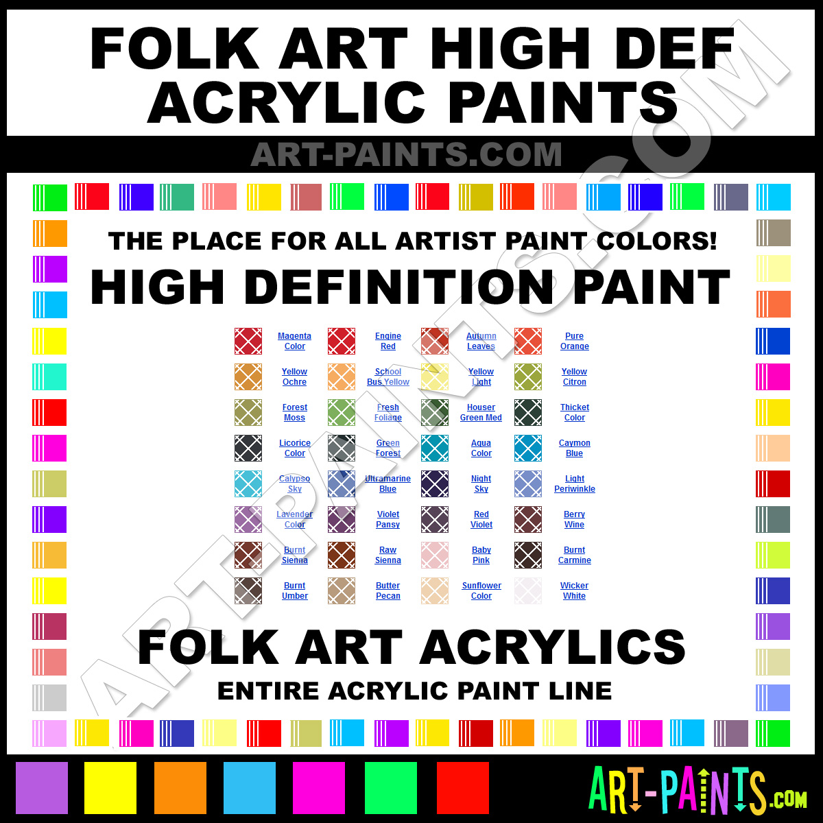 Folk art acrylic paint color chart - Light Periwinkle Paint 4527 By Folk Art High Definition Paints