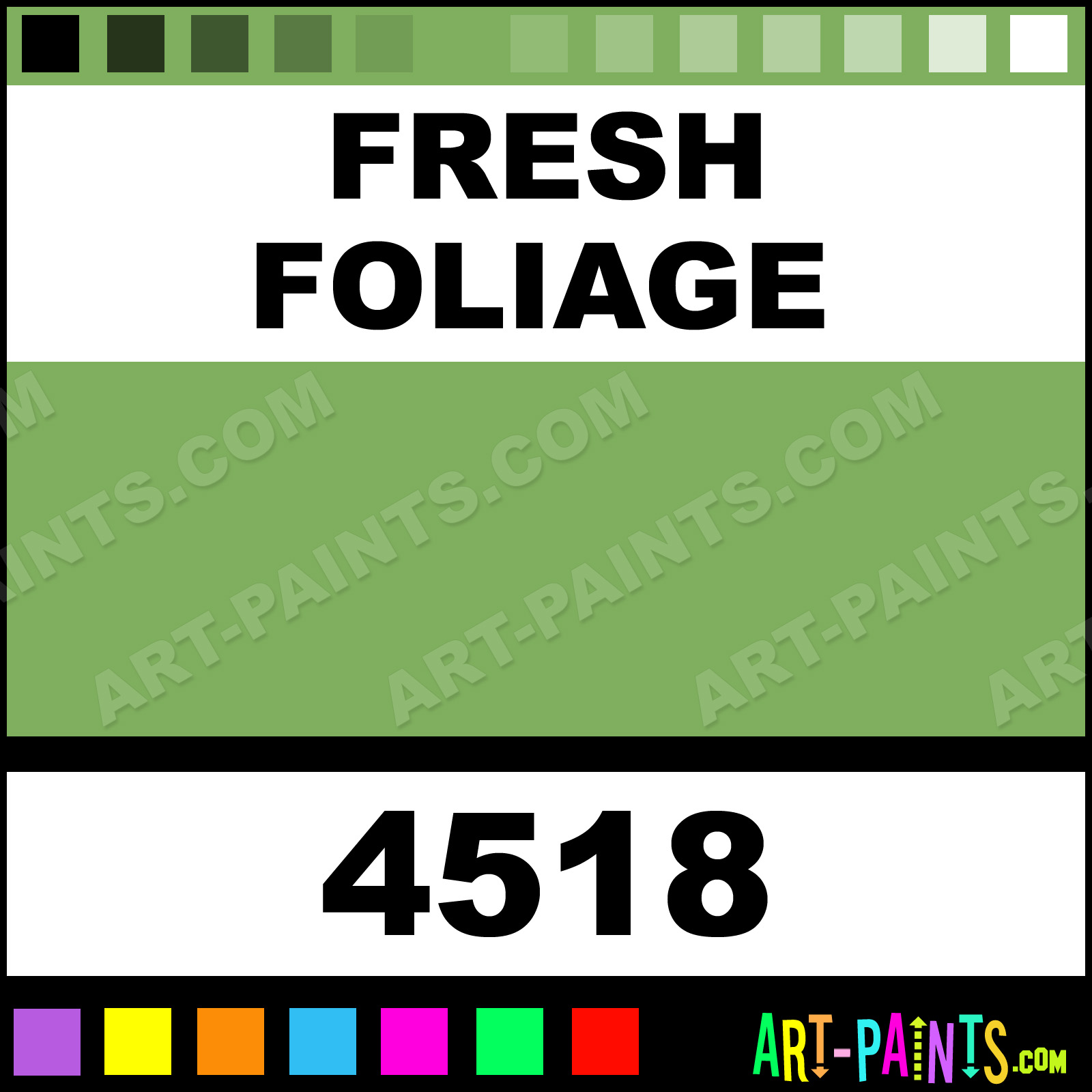 Fresh foliage high definition acrylic paints 4518 for Frash meaning