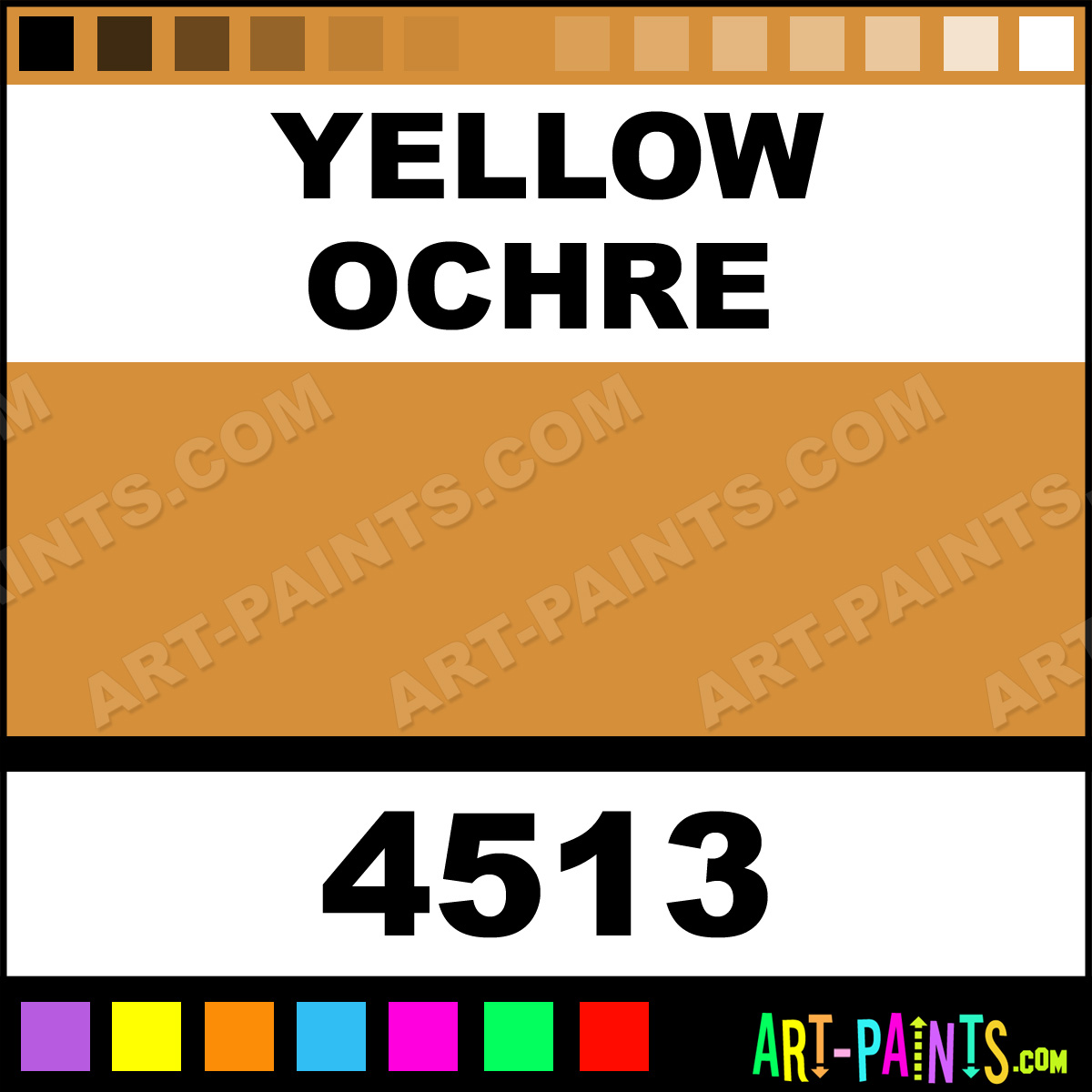 Yellow Ochre High Definition Acrylic Paints - 4513 - Yellow Ochre ...