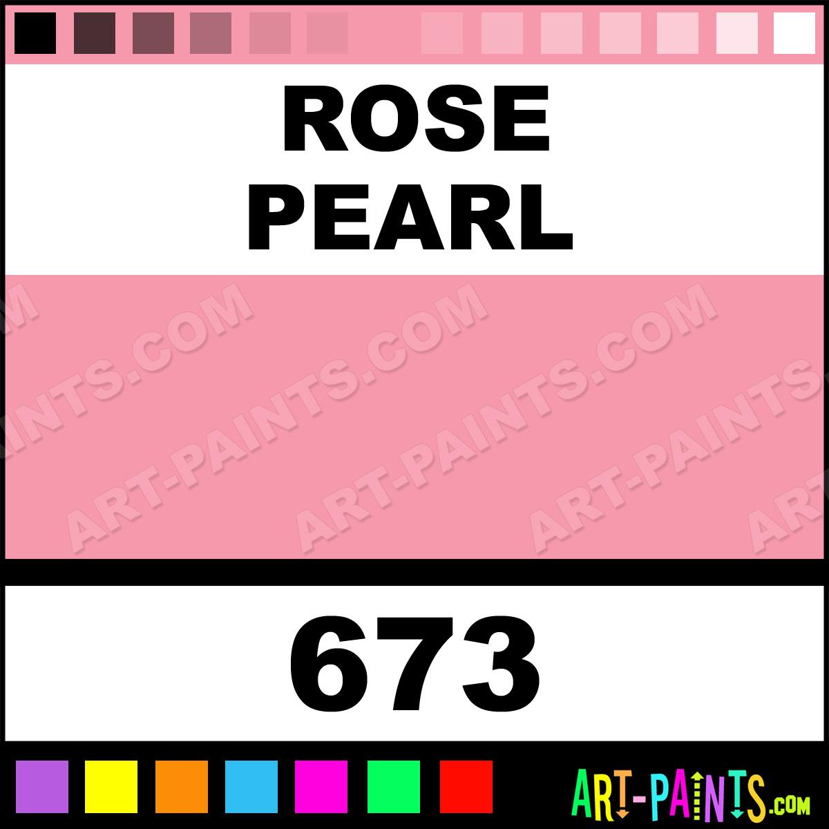 Folk art color chart acrylic paint - Rose Pearl Paint 673 By Folk Art Metallics Paints