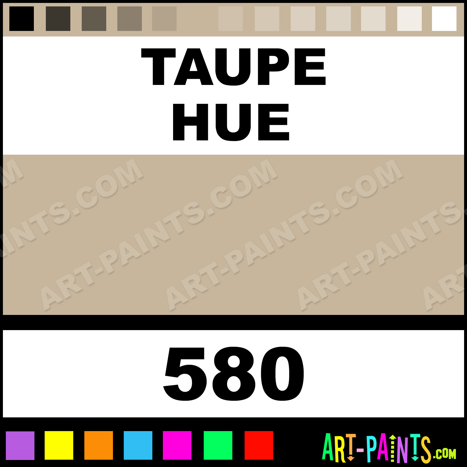 Folk art acrylic paint color chart - Taupe Taupe Paint
