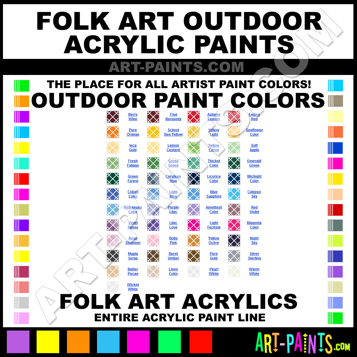 Folk art acrylic paint color chart - Night Sky Paint 1636 By Folk Art Outdoor Paints