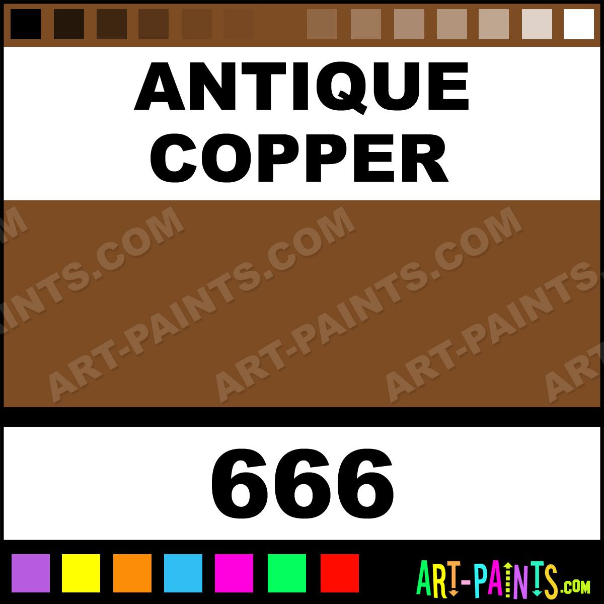 Antique Copper Plaid Acrylic Paints 666 Antique Copper
