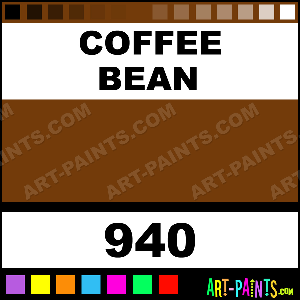 Coffee Bean Plaid Acrylic Paints 940 Coffee Bean Paint