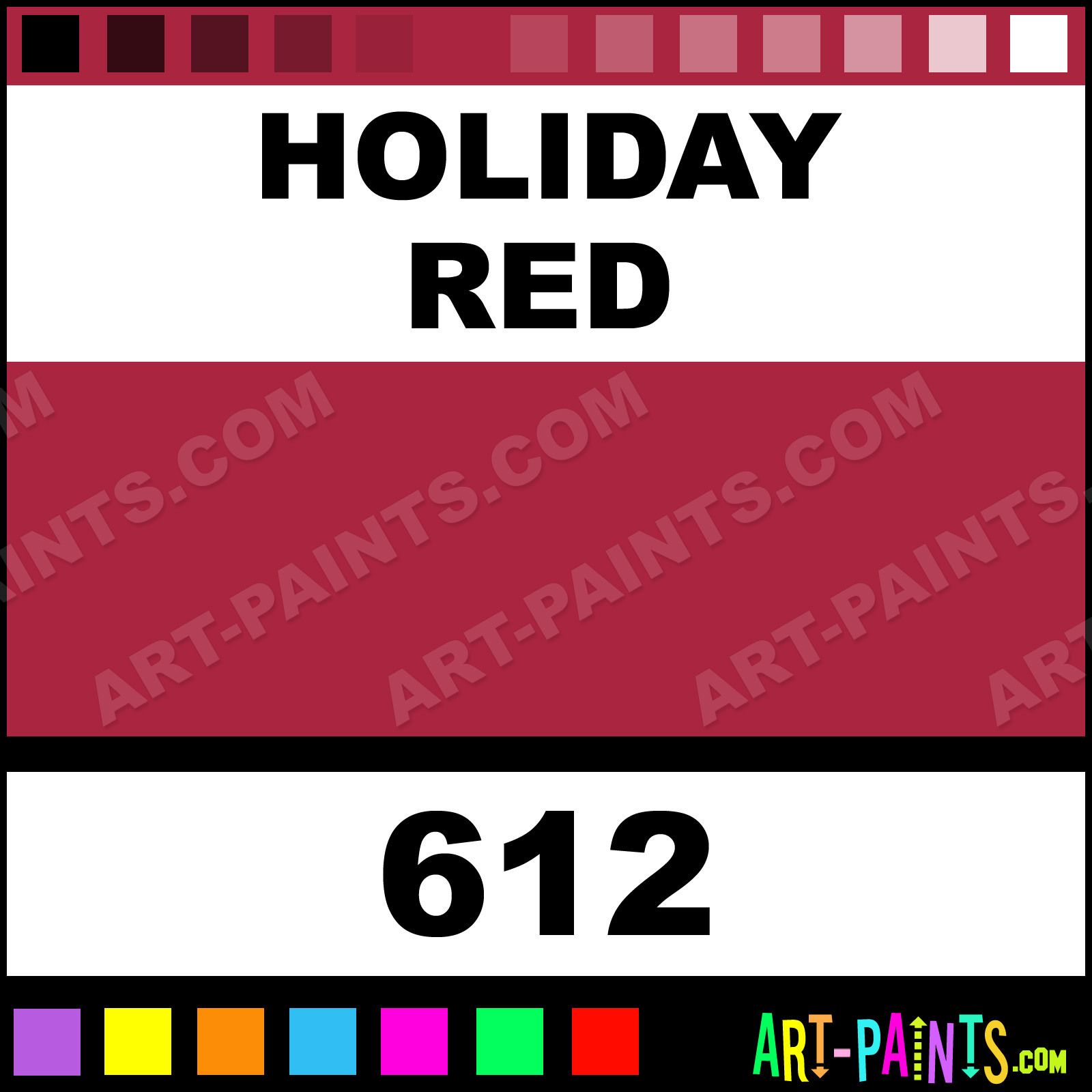 Folk art color chart acrylic paint - Holiday Red Holiday Red Paint