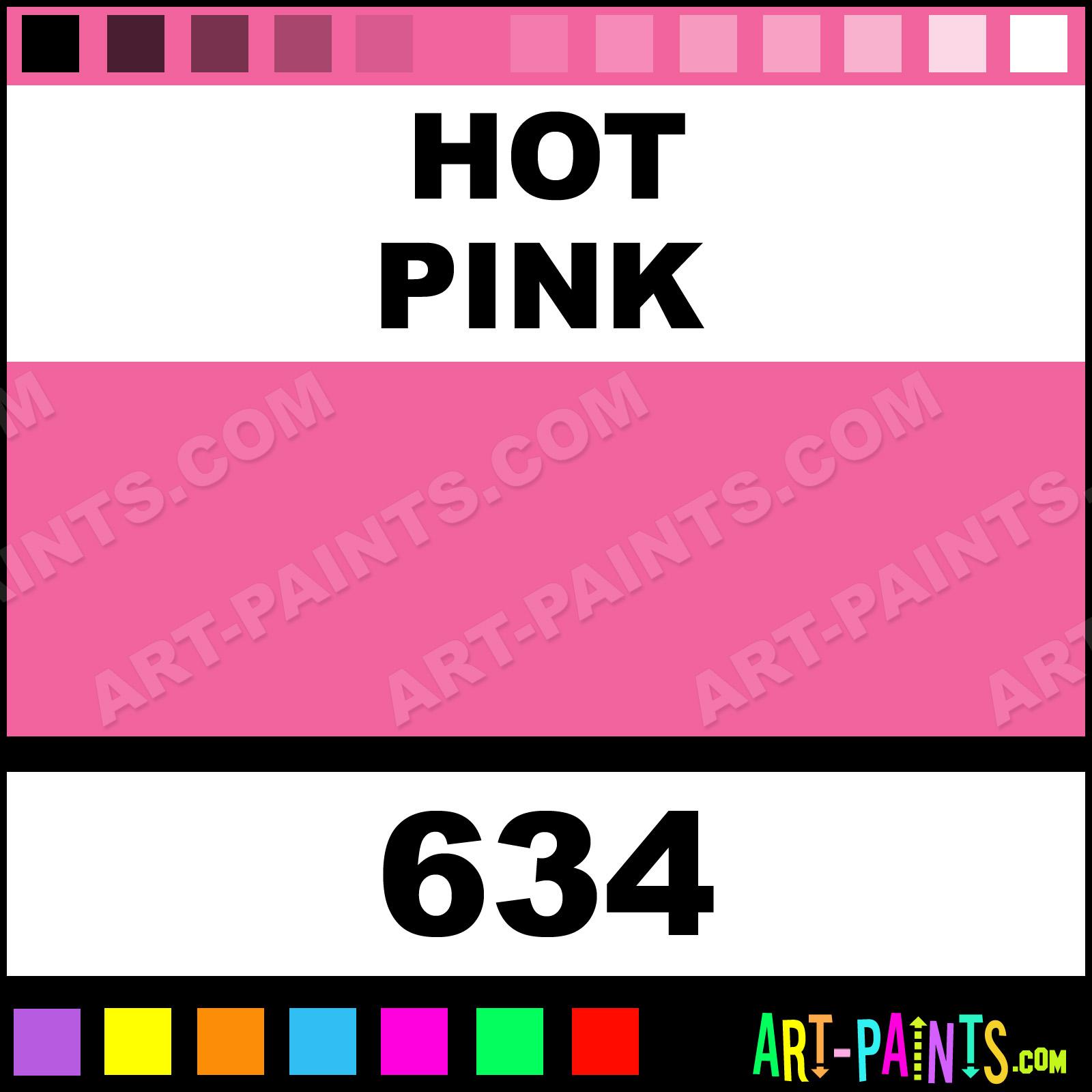Folk art acrylic paint color chart - Hot Pink Hot Pink Paint