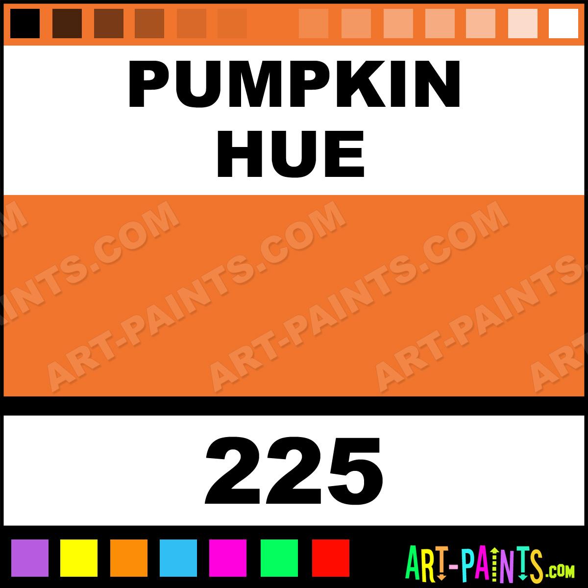 Folk art color chart acrylic paint - Pumpkin Paint 225 By Folk Art