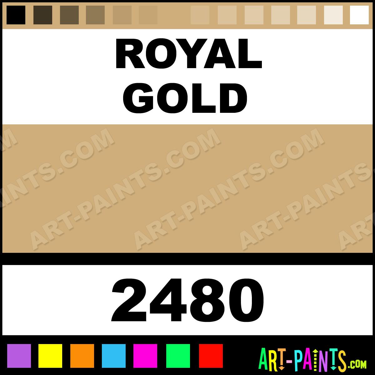 Folk art acrylic paint color chart - Royal Gold Paint 2480 By Folk Art Plaid Paints