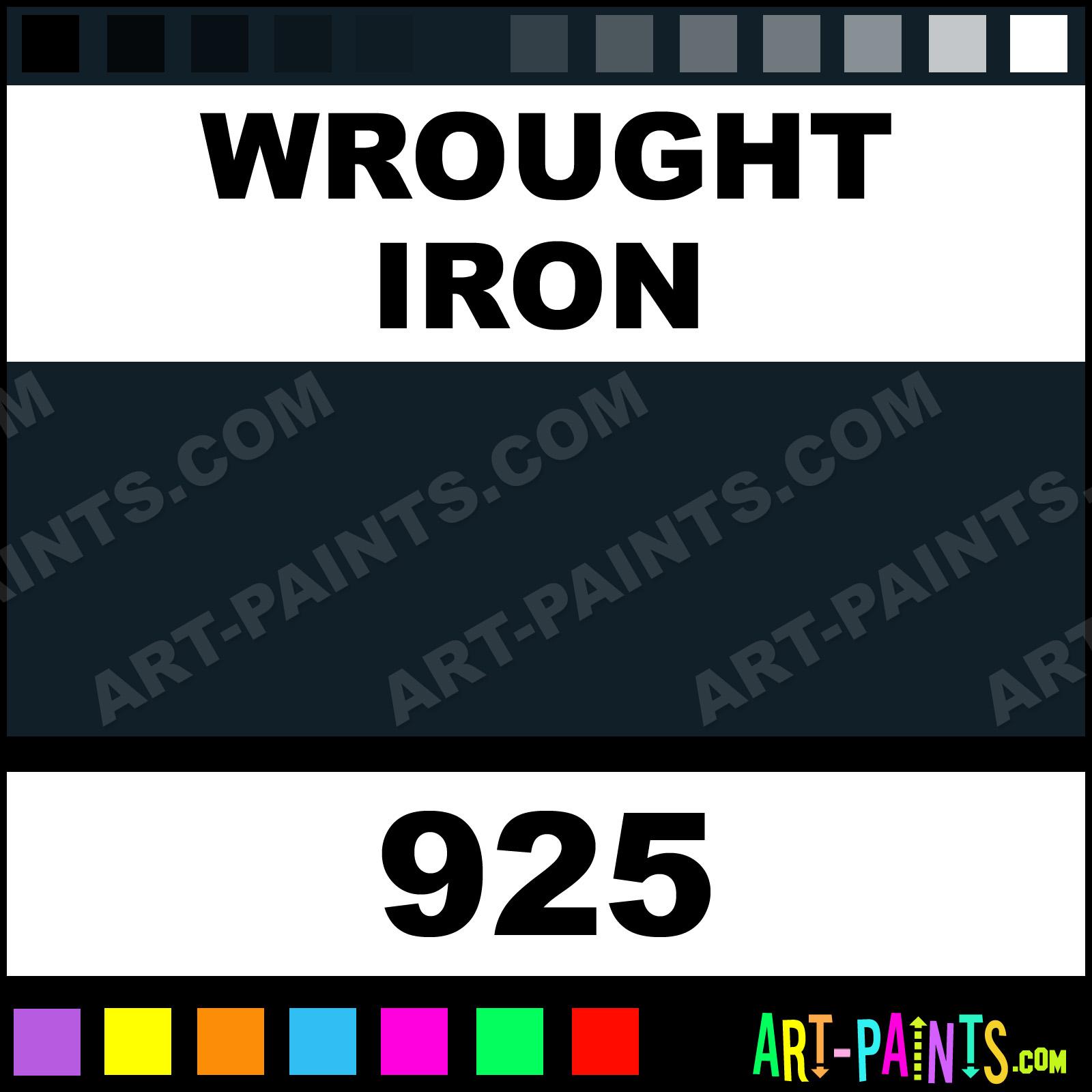 Wrought iron plaid acrylic paints