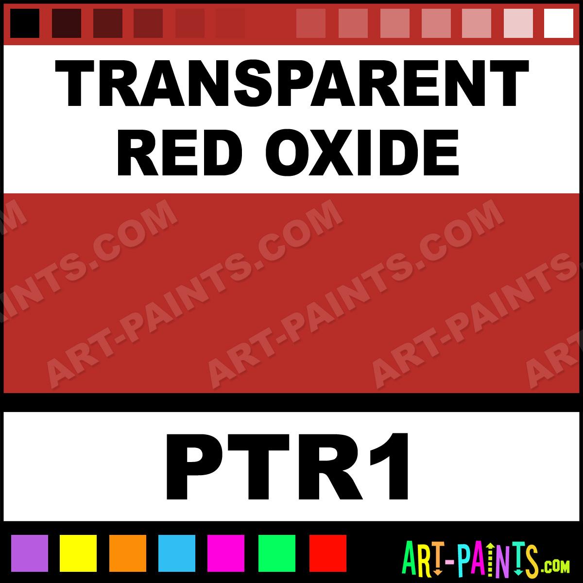 Transparent Red Oxide Oil Paint