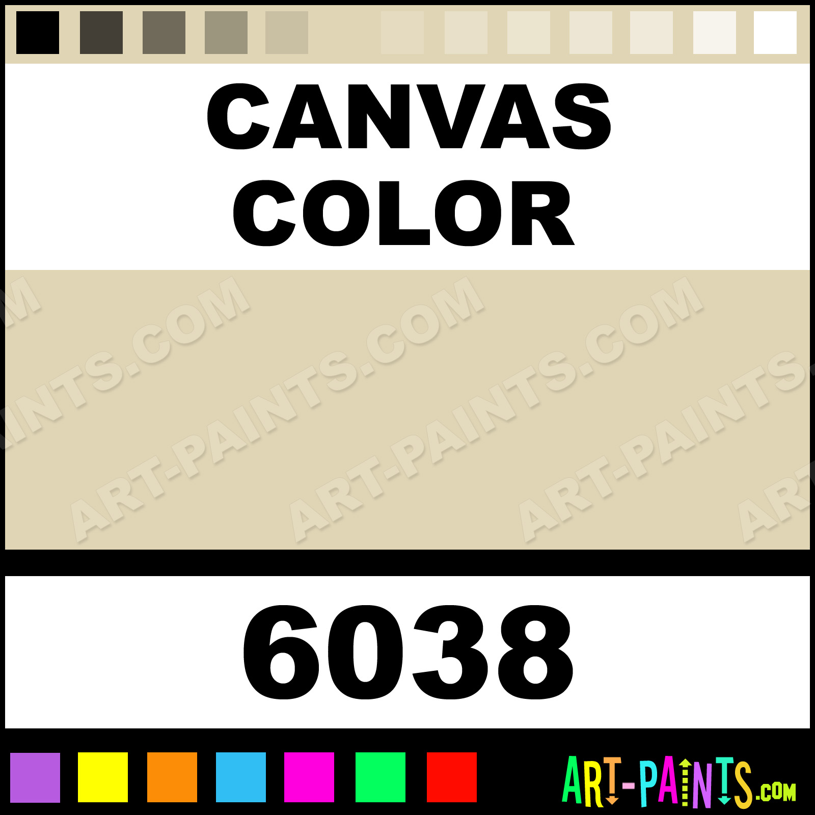 Canvas color high load acrylic paints 6038 canvas for Artist canvas paint color