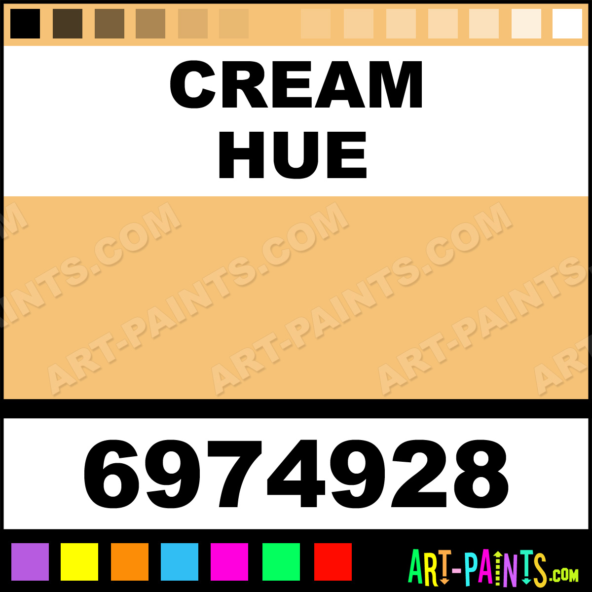 how to make cream color acrylic paint