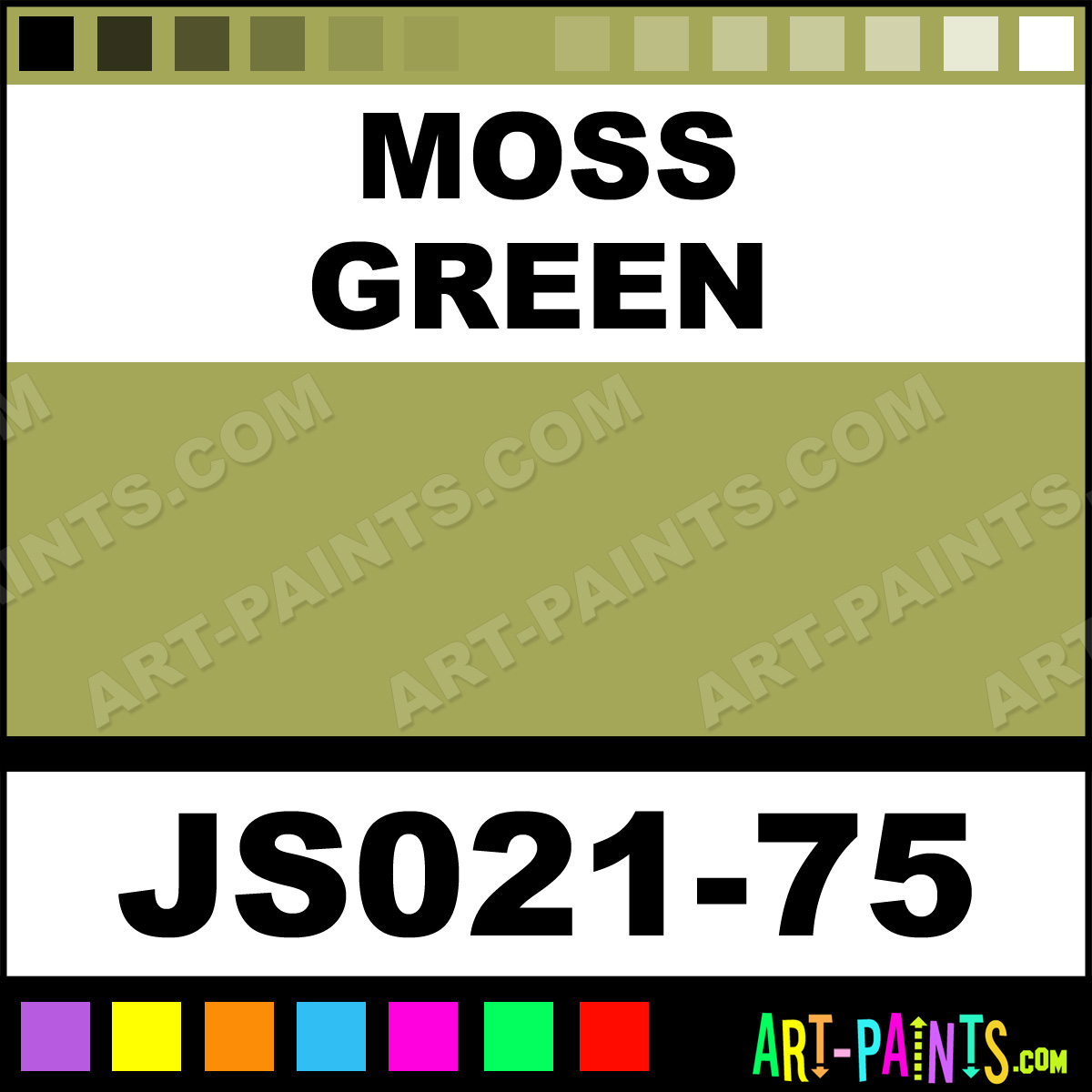 Moss Green Paint Colors: Moss Green Artists Colors Acrylic Paints