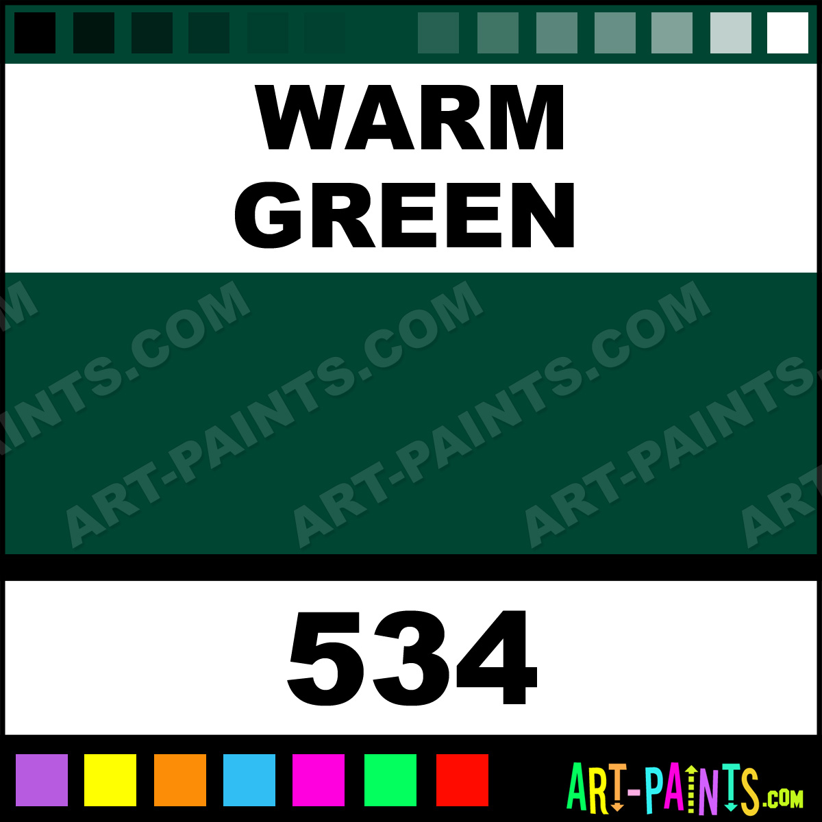 Warm Green Louvre Acrylic Paints - 534