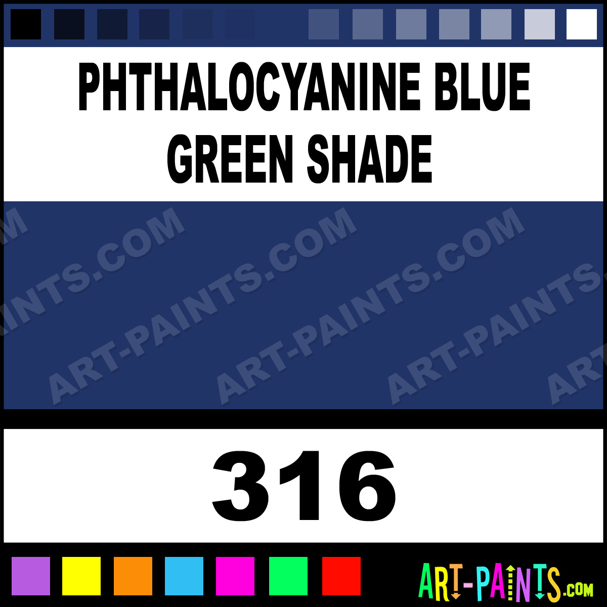 Phthalocyanine Blue Green Shade Professional Acrylic