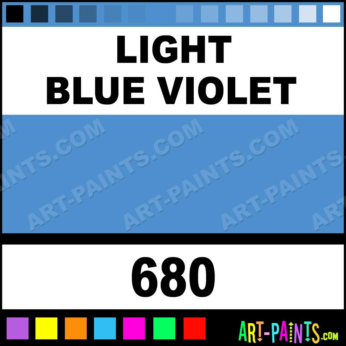 Light Blue Violet Soft Body Acrylic Paints 680 Light
