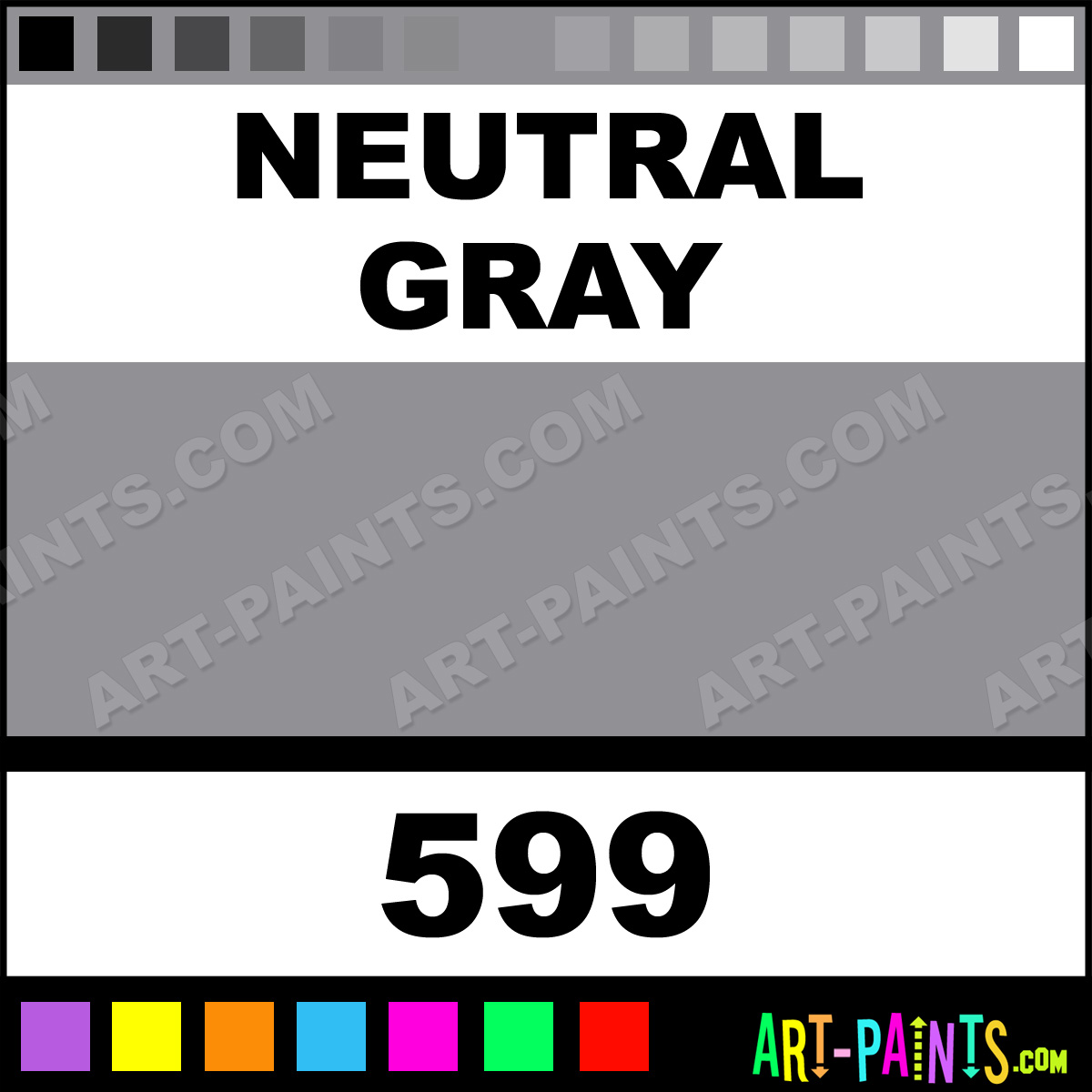 Neutral gray soft body acrylic paints 599 neutral gray for Soft neutral paint colors