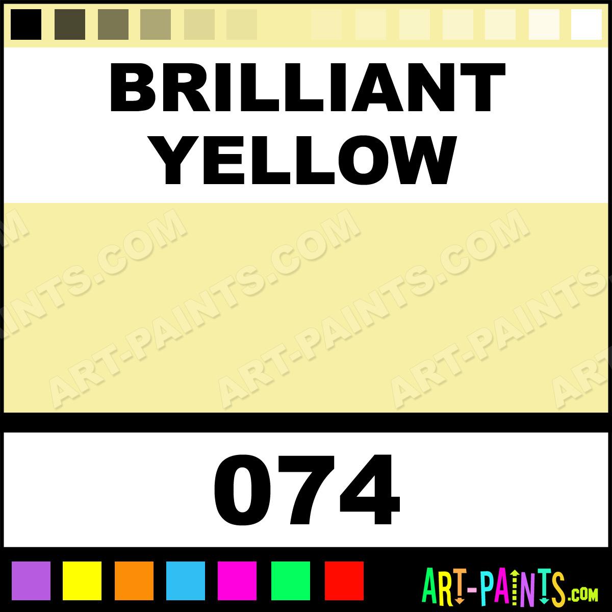 Brilliant Yellow Polycolor Acrylic Paints 074