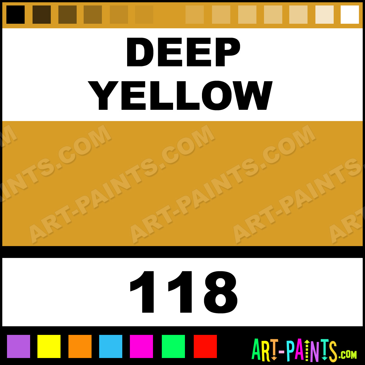 Deep Yellow Polycolor Acrylic Paints 118 Deep Yellow