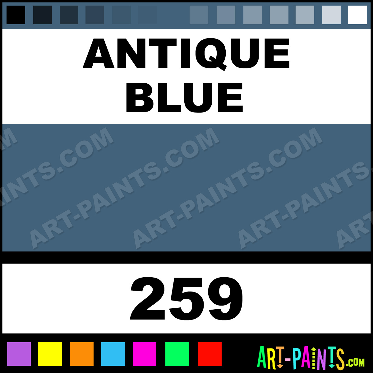 antique blue basicacryl acrylic paints 259 antique