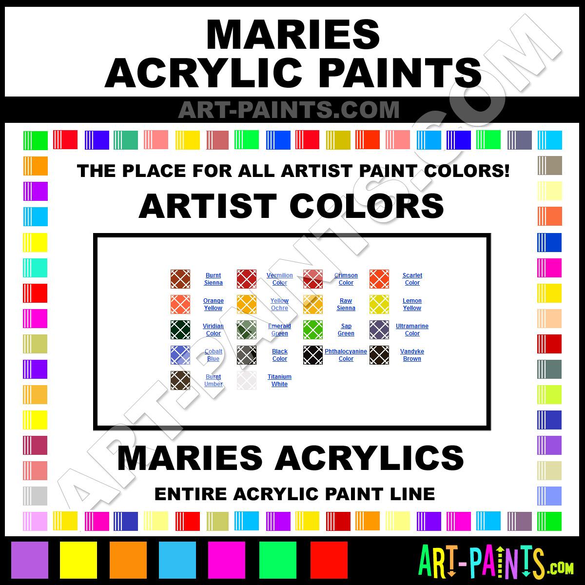 ... Color, Artist Acrylics, Maries Artist Paint line! - Art-Paints.com