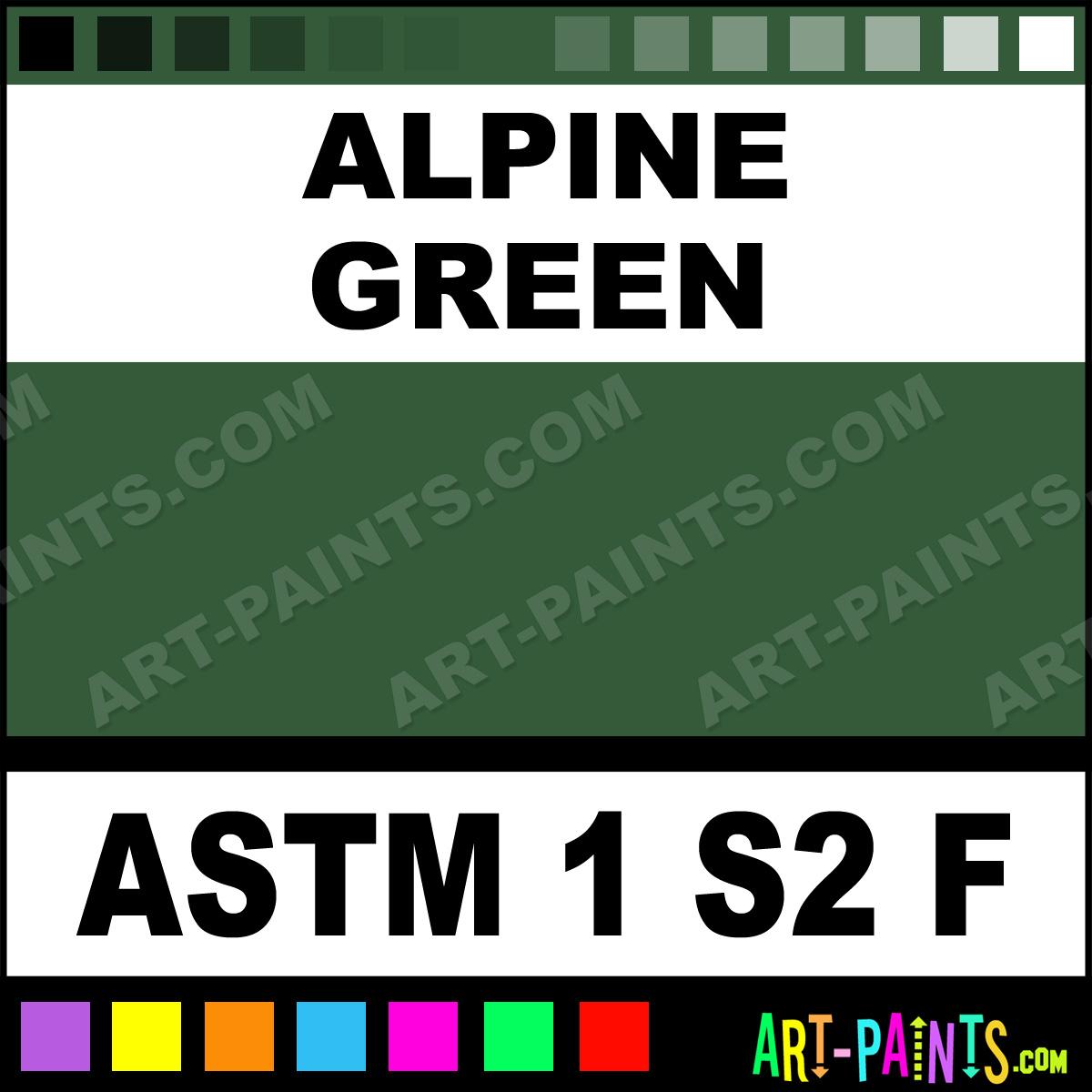 Alpine Green Flow Acrylic Paints Astm 1 S2 F Alpine