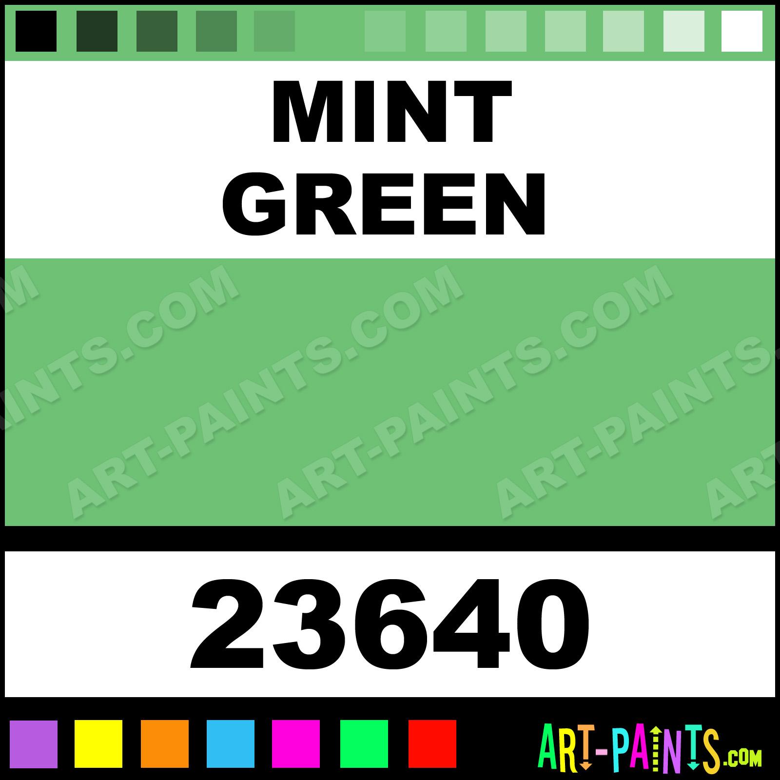 Smart acrylic paints 23640 mint green paint mint green color