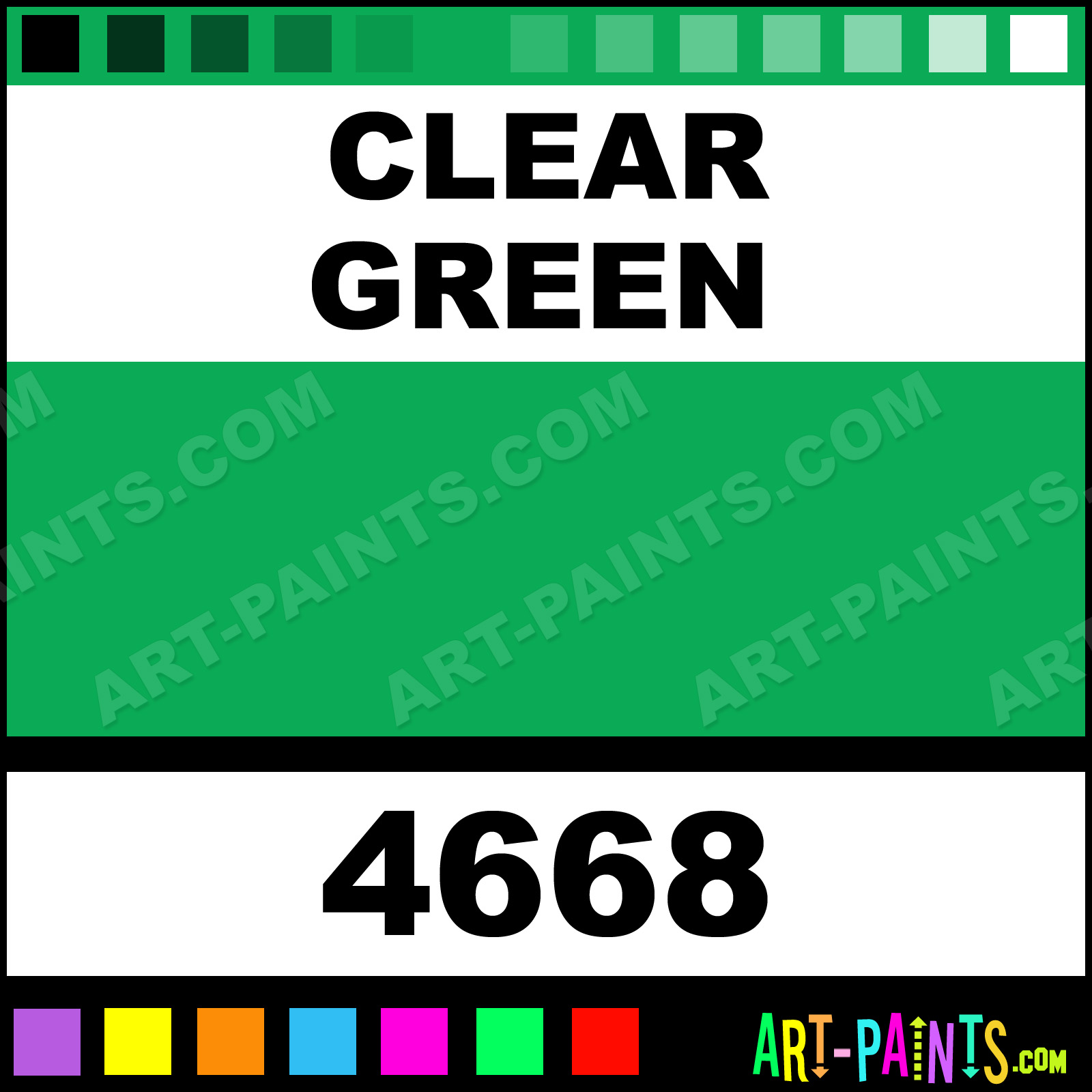 Clear Green Paint