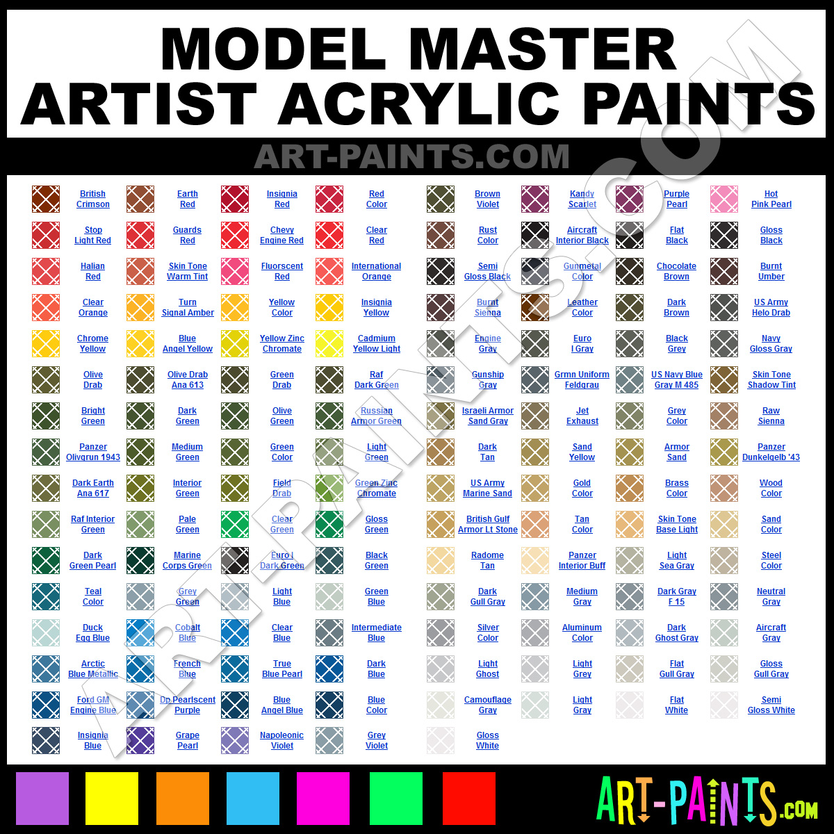 Artist Paint Colors Model Master Artist Paints