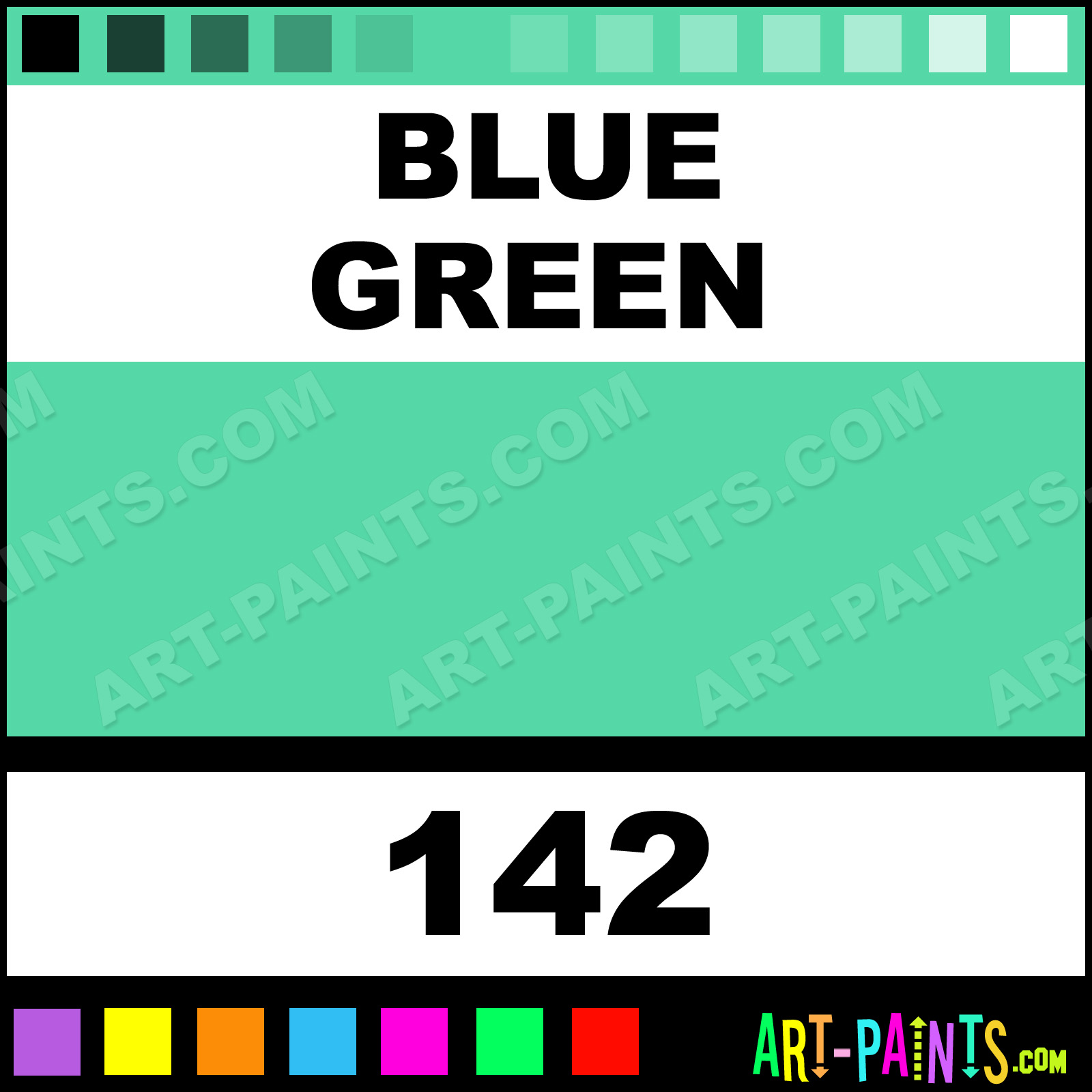 Blue Green Paint