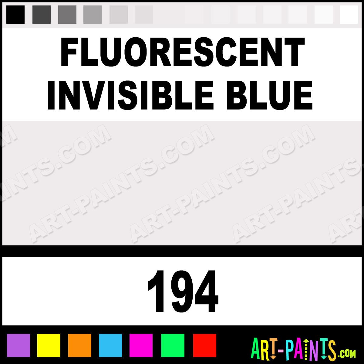 Invisible Blue Fluorescent Paint