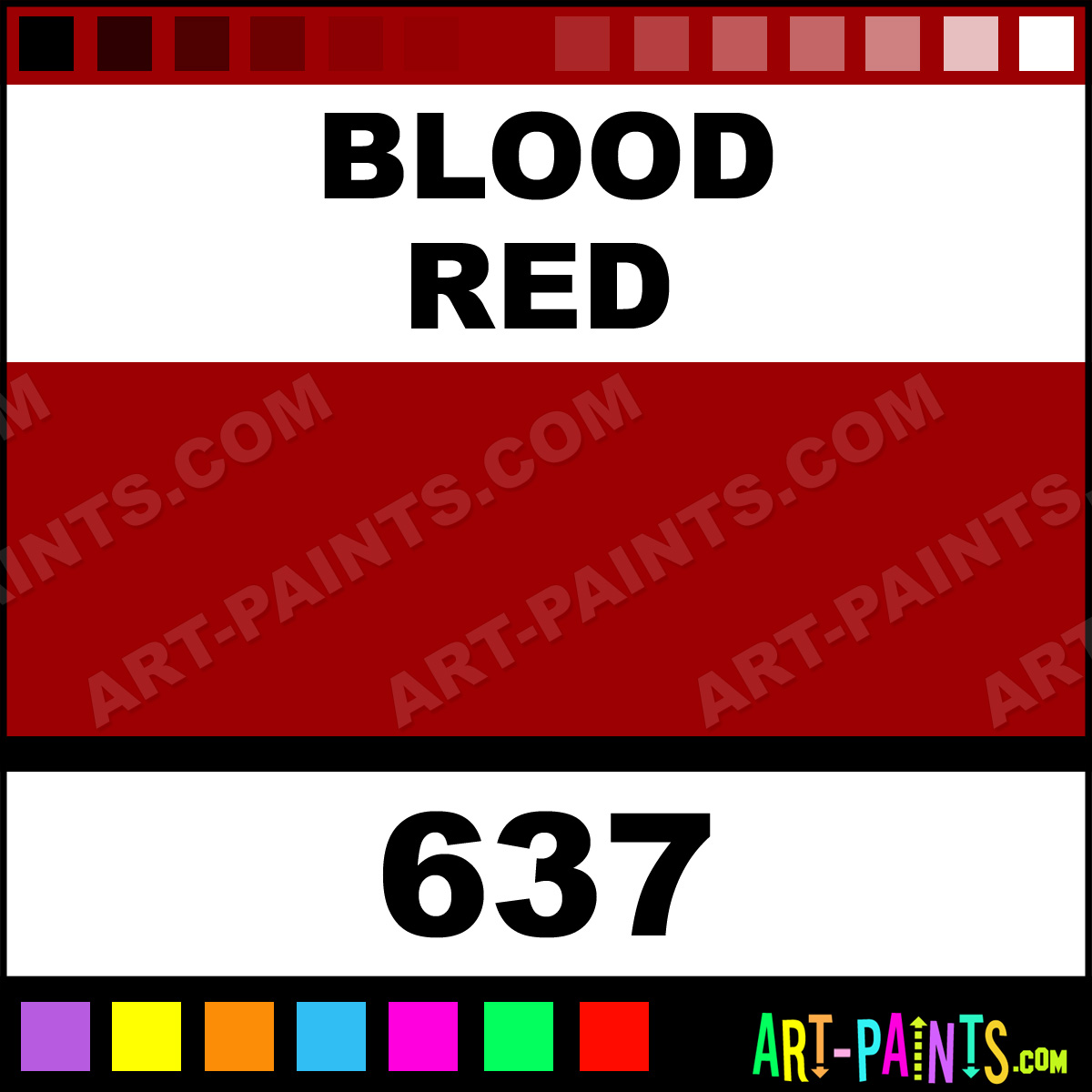 Blood Red Classic Acrylic Paints 637 Blood Red Paint
